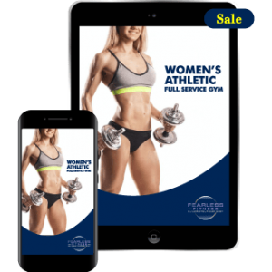 Women's muscular Athletic Full Service Gym